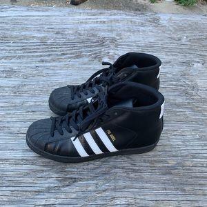 Other - Adidas pro model black leather